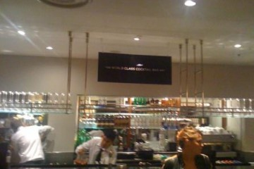 Preparations at the World Class Bar at Selfridges