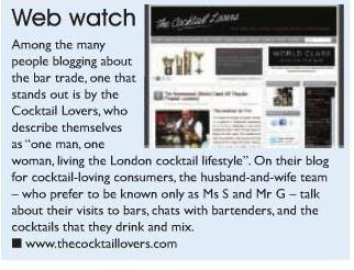 The Cocktail Lovers in Bar Magazine