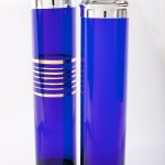 1920s cobalt blue glass Skyscraper cocktail shakers, £3,700, www.vintageseekers.com