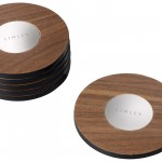 Six coasters in walnut with inlaid magnetic discs, £100, www.davidlinley.com