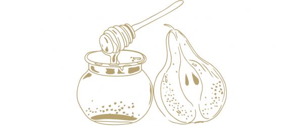 Pear and honey shrub