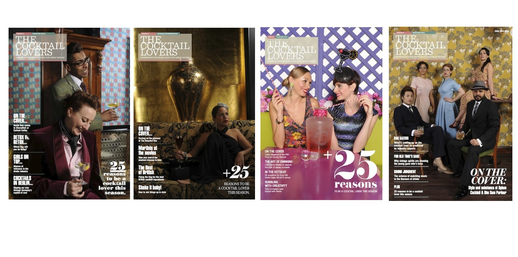 The Cocktail Lovers Magazine Four Covers