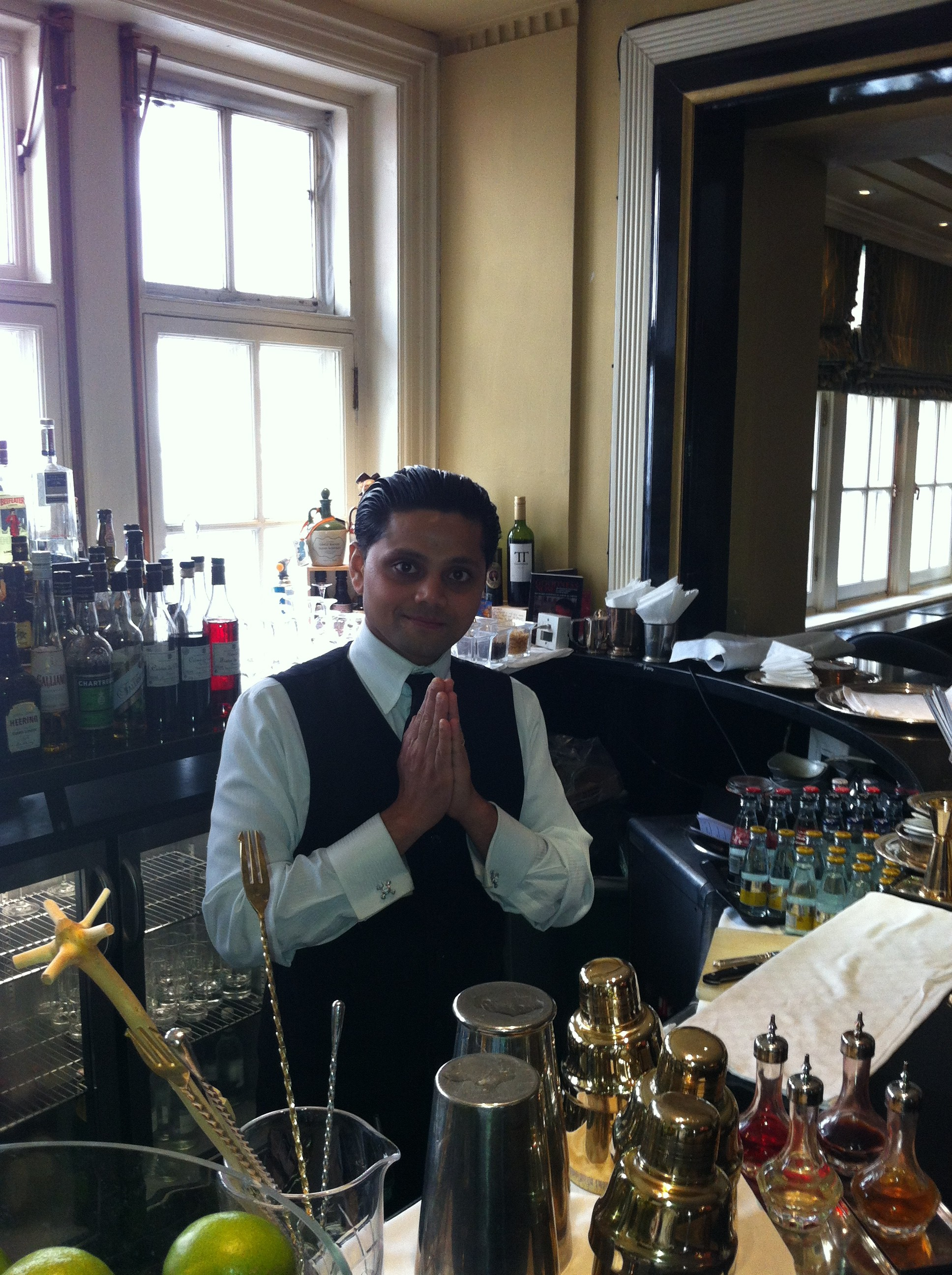 Swanand Korgaonkar, Head Bartender, Knight's Bar Simpson's-in-the-Strand